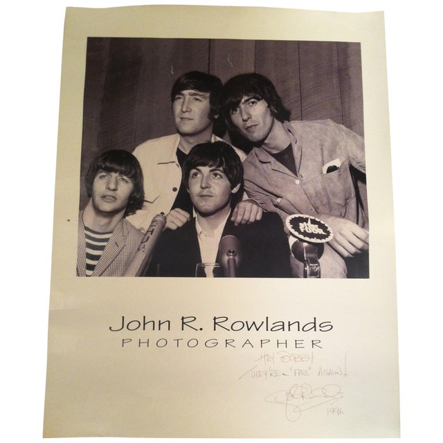 Beatles Press Conference Signed Photograph - Image 1 of 10