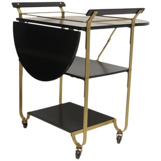 Mid 20th Century Brass Bar Cart