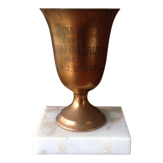 1947 Brass & Marble Loving Cup Trophy