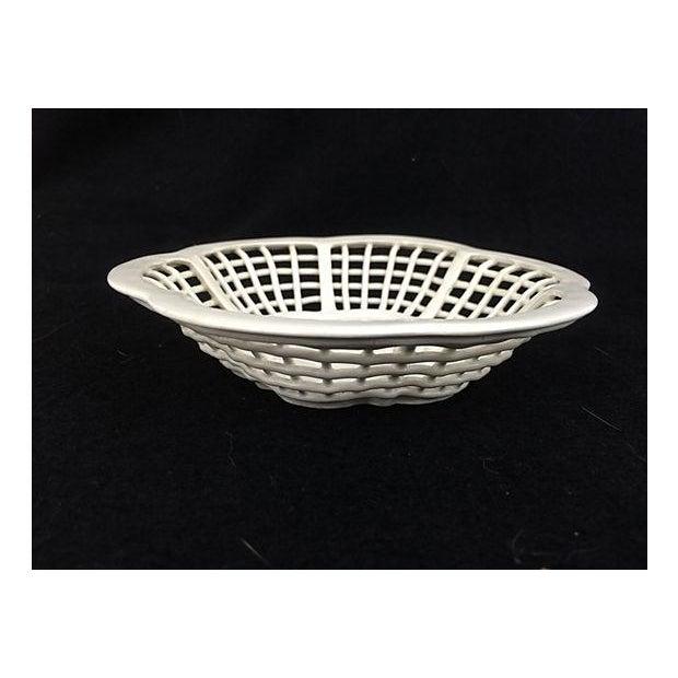 White Lattice Creamware Baskets - A Pair - Image 3 of 3