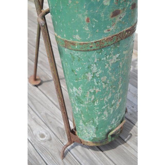 Image of Antique Green Tole Grape Gathering Basket