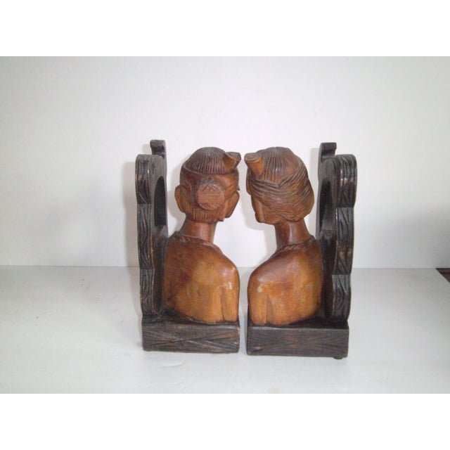 Hand Carved Wooden Bookends - Image 6 of 11