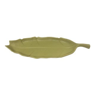 Large Vintage Ceramic Banana Leaf Dish