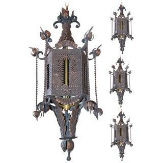 Set of 4 Spanish Tole Lanterns