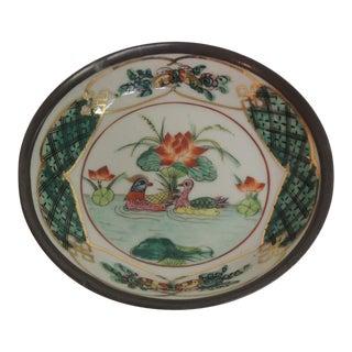 Vintage Round Ceramic Hand Painted Imari Plate