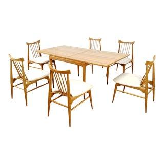 Mid Century Modern Brown Saltman Dining Set