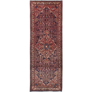 "Vintage Persian Nahavand Runer- 3'7"" x 10'5"""