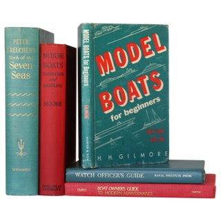 Vintage Nautical Books - Set of 5
