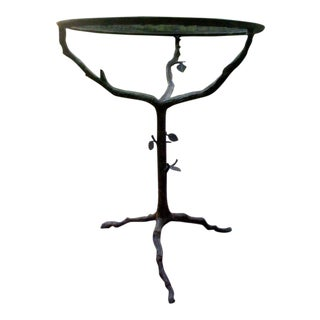 Two Iron End Tables in the Manner of Giacometti
