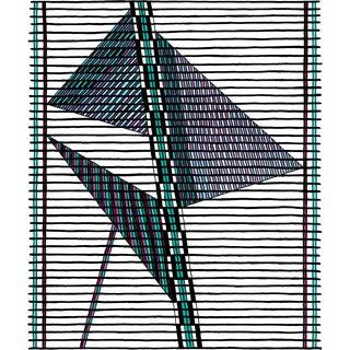 Noémie Jennifer Blue Pillar Matted Print