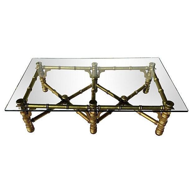 Faux Bamboo Glass Coffee Table Chairish