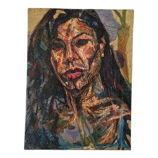 Vintage Expressionist Portrait of a Woman