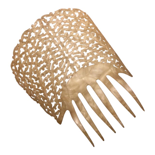 1910s Antique Pierced Hair Comb - Image 1 of 5