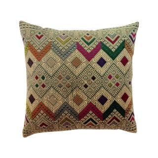 Vintage Lao-Thai Throw Pillow