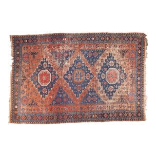 "Antique Soumac Carpet - 8'8"" x 13'2"""