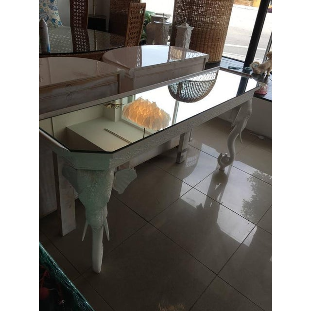 Gampel-Stoll White Elephant Console Table - Image 5 of 11