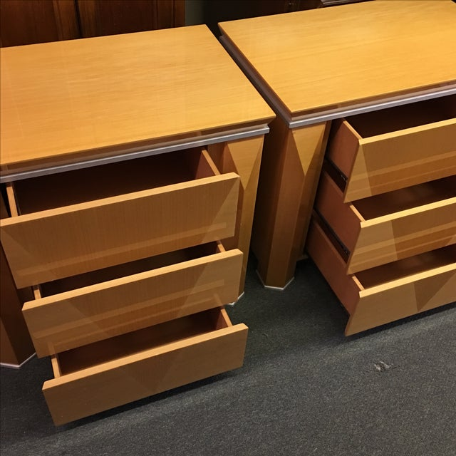 Georgio Collection Parquet Nightstands - A Pair - Image 7 of 7