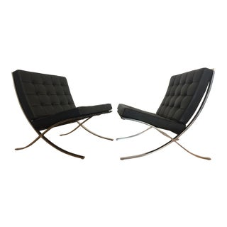 1960's Ludwig Mies van der Rohe Knoll Barcelona Chairs- A Pair