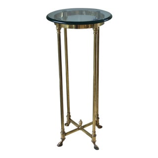 Vintage Italian Brass & Glass Plant Stand