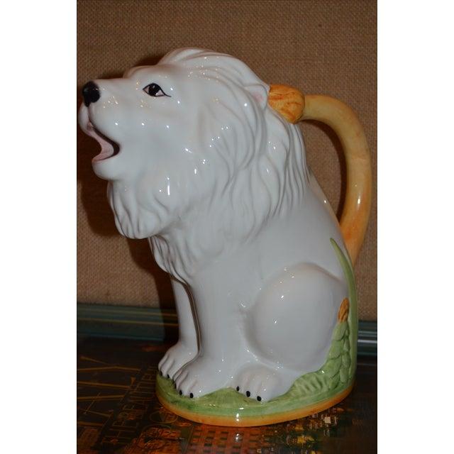 Vintage Italian Ceramic Lion PItcher - Image 10 of 10