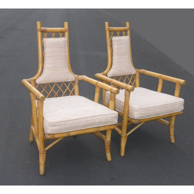 Image of Vintage Mid Century Bamboo Chairs - A Pair