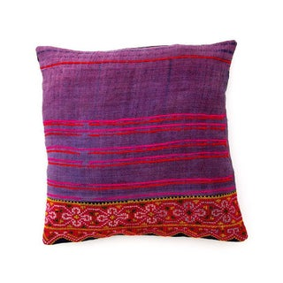 Handsewn Hill Tribe Purple Pillowcase