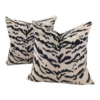 Scalamandre Tigre Velvet Pillows - A Pair