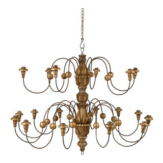 Rare Double-Tier Chandelier