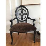 Image of Velvet Upholstered Chair