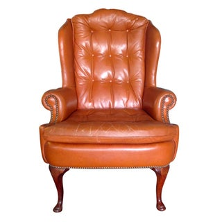 Vintage Leather Wingback