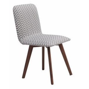 Image of Walnut & Slate Chevron Dining Chair