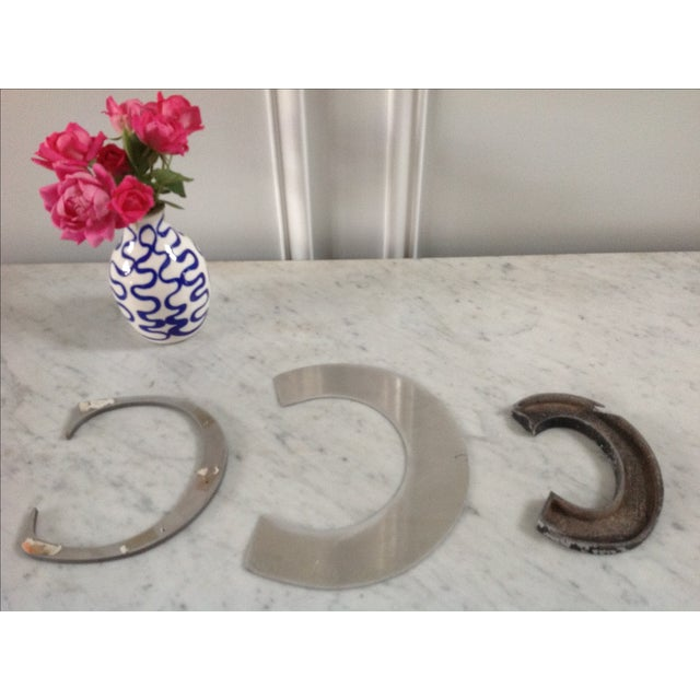 Collection of Metal Vintage Letter C - Set of 3 - Image 3 of 4