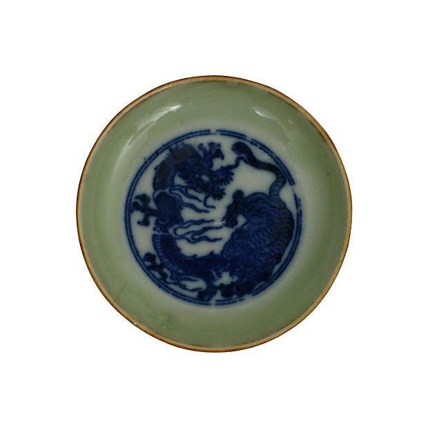 Early 19th-C. Celadon Dishes, S/3 - Image 2 of 5