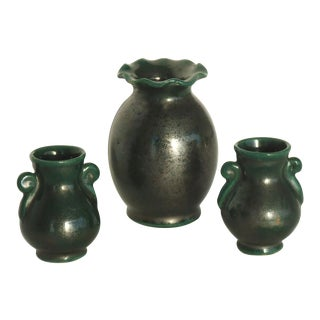Italian Pottery Mini Vases - Set of 3