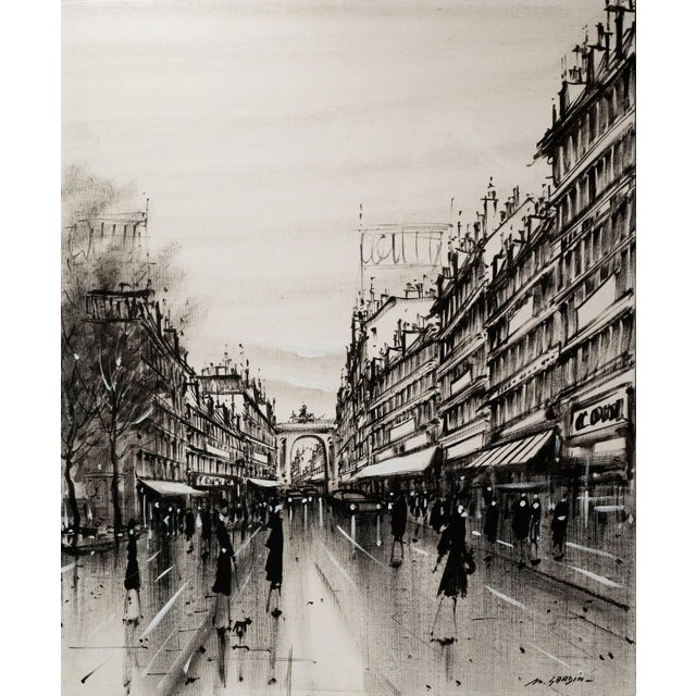 Champs-Elysées and the Arc De Triomphe, Grisaille - Image 1 of 6