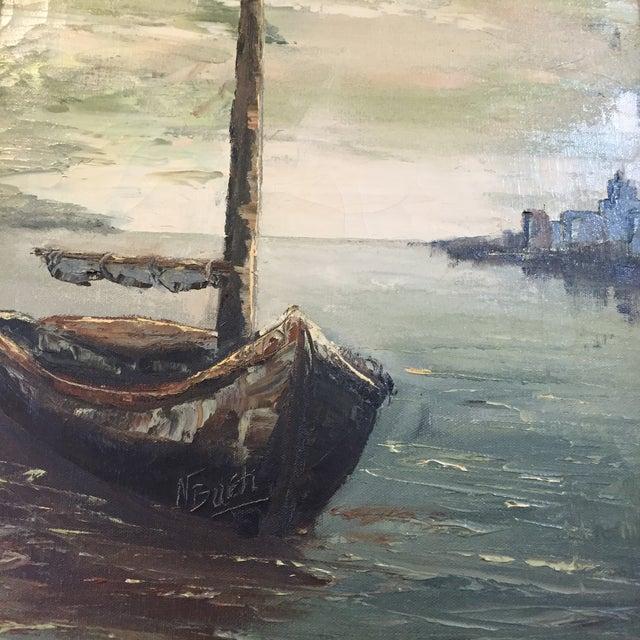 Original Oil Painting of Schooner by N. Bueti - Image 4 of 5