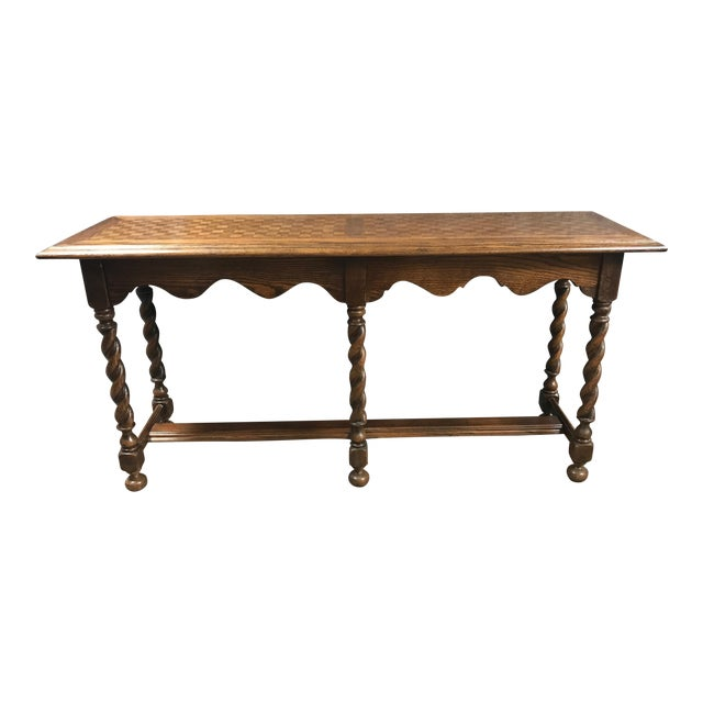 Ethan allan console table chairish for Table th width ignored