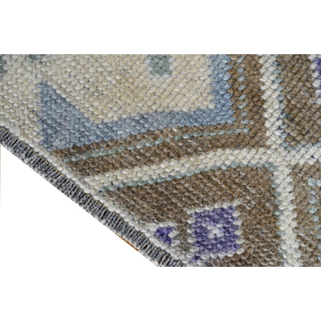 Image of Hand-Knotted Antiqued Turkish Rug - 3′1″ × 5′7″