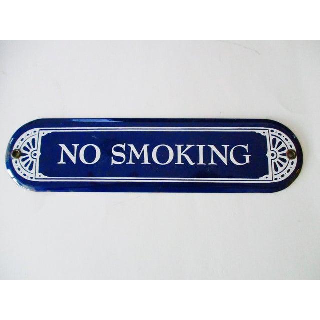 """Enamel Porcelain """"No Smoking"""" Sign - Image 2 of 7"""