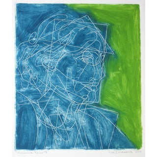"Rob Delamater ""Virginia Woolf IV"" Block Print"