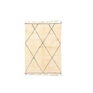 Beni Ourain Handwoven Rug - 5′6″ × 8′4″