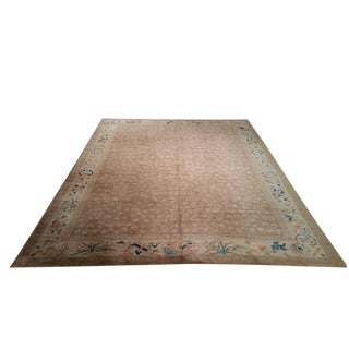 Antique Traditional Hand Made Knotted Rug - 9′ × 11′8″