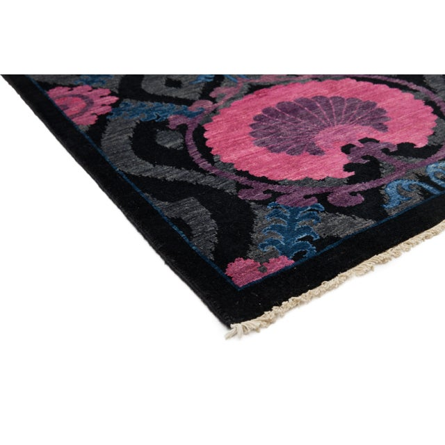"""Suzani Hand Knotted Area Rug - 3'1"""" X 5'2"""" - Image 2 of 3"""
