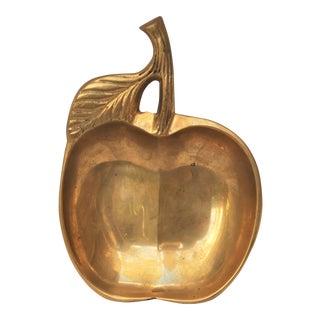 Mid-Century Brass Apple Change Tray