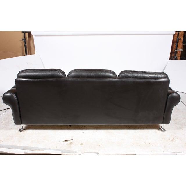 Image of Danish Retro Black Sofa