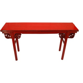 Red Lacquered Altar Table