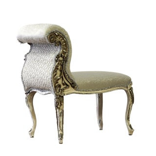 Upholstered French Slipper Chair