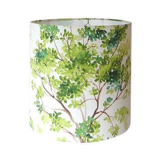 Large Vilber Trees Green Custom Drum Lamp Shade