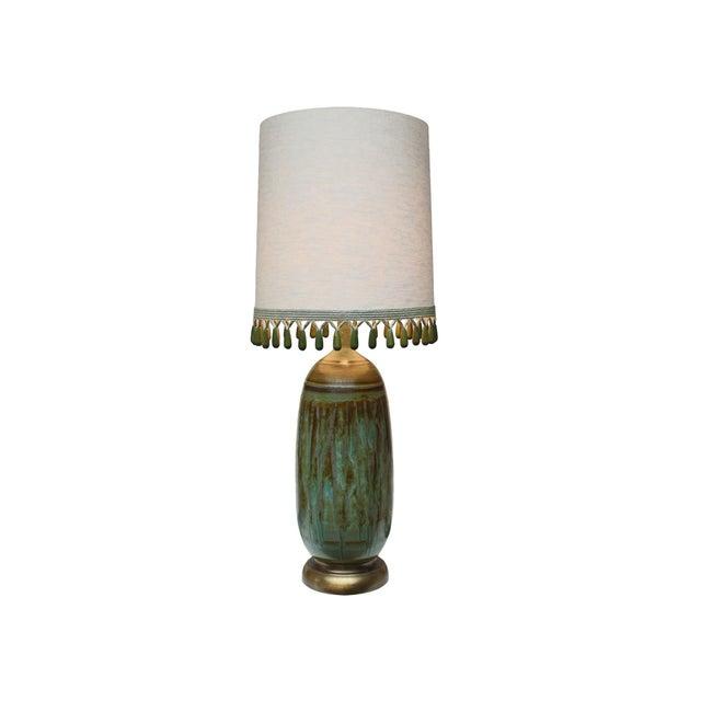 Image of Vintage Matte Drip Glaze Lamp