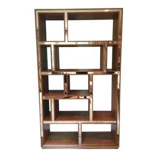 Mod Shop Mirrored & Walnut Book Shelf